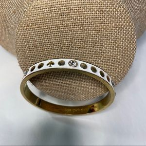 Kate spade enamel rhinestone bangle bracelet